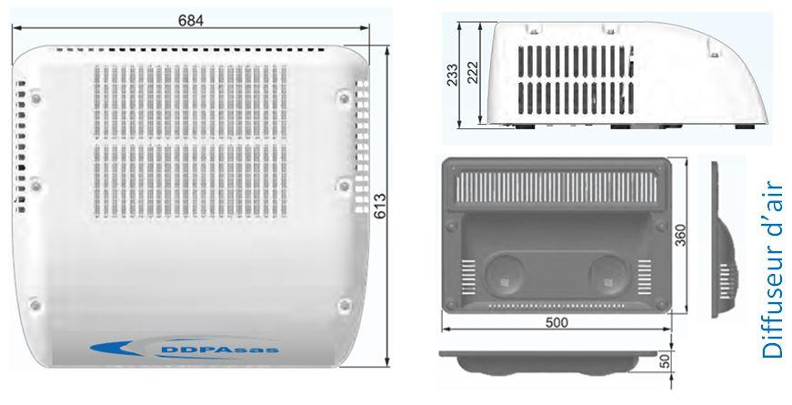 kit de climatisation monobloc dimensions
